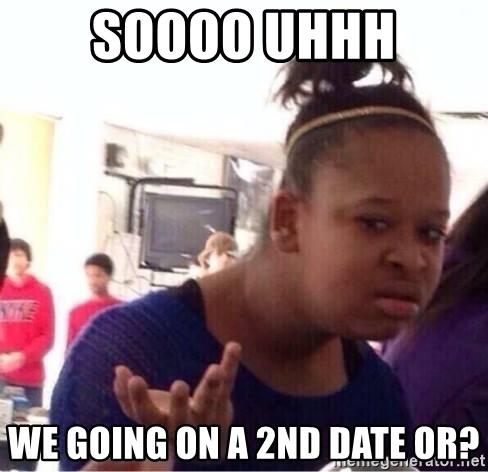 op tweede date gaan